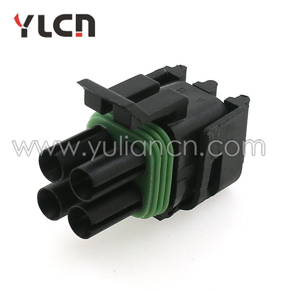 Auto connector 12015798 delphi 4pin female connector with terminal