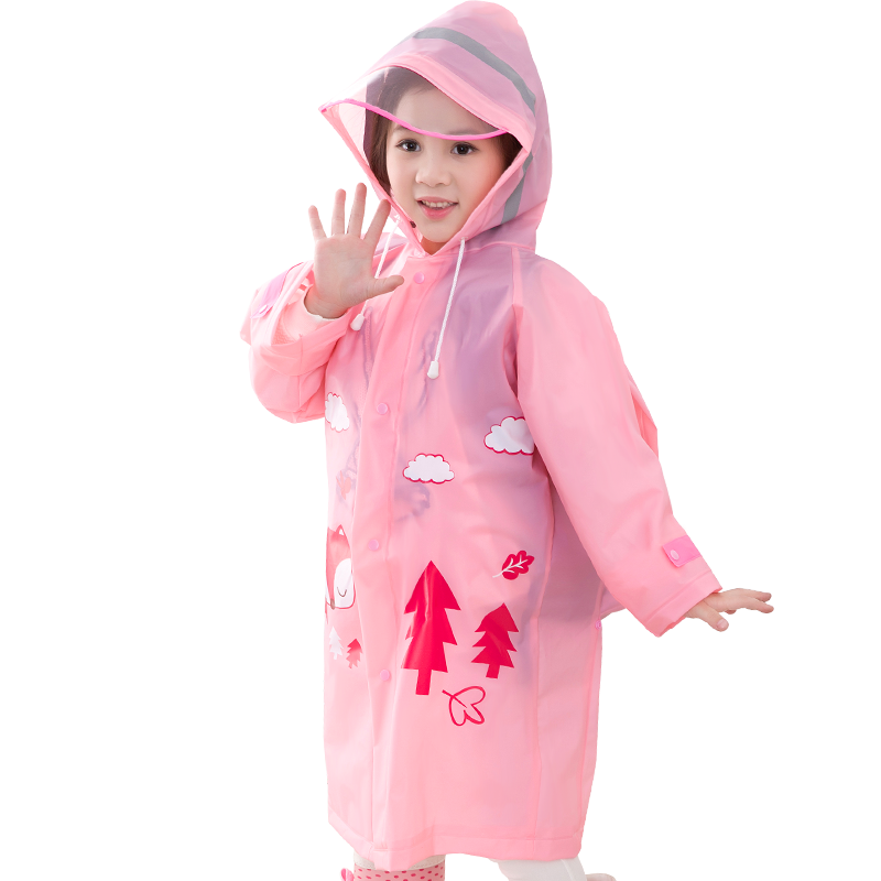 Hot Sales Fashion Rubber Impermeable Custom Printed Rain Coat