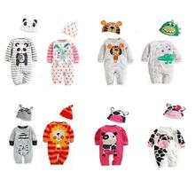 Wholesale 100% cotton baby clothes soft stylish baby winter romper set baby romper