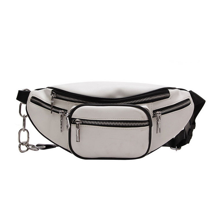 Classic Simple Chain Casual Women Breast Sports Waist Bag Wholesale