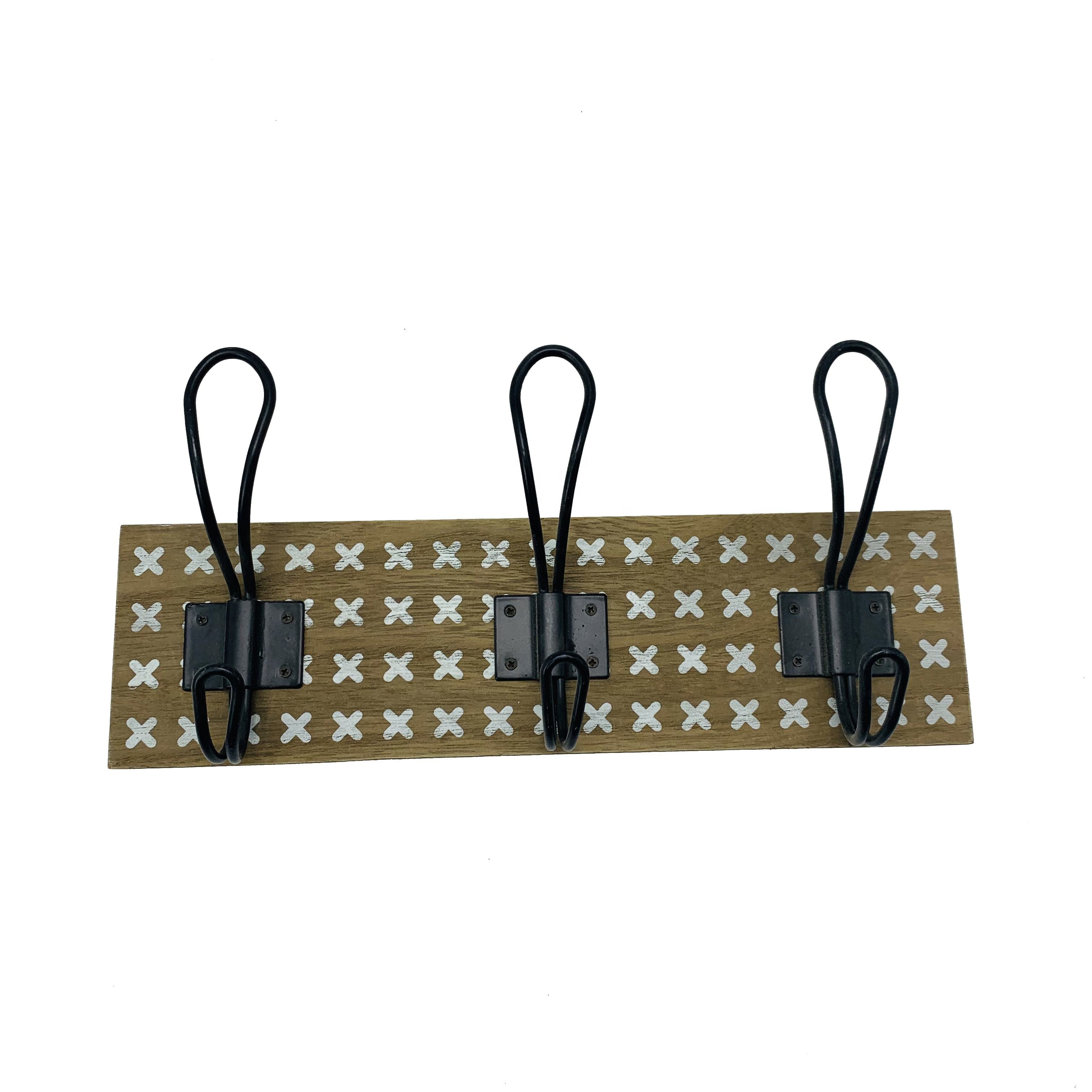 Decorative Wall Hanging Wooden Clothes Rack Hooks