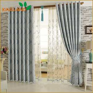 Ready made curtain supplier dubai Cheap living room blackout curtain fabric