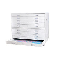White map cabinet steel drawing storage cabinet
