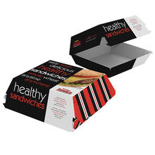 fast food hamburger packaging Box for Burger