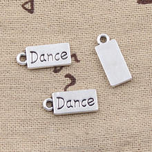 Custom plates dance charms vintage silver fashion plates dance charm pendant for jewelry 21*18mm