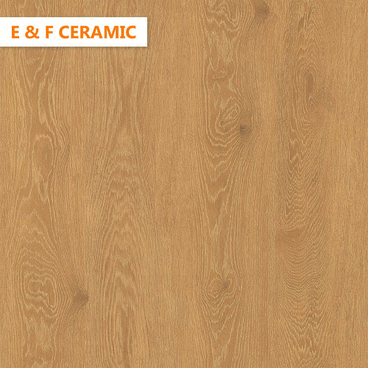 china Home wood elevation Wear Resistance Textured Floor Tiles Glossy yellow color wooden floor tile