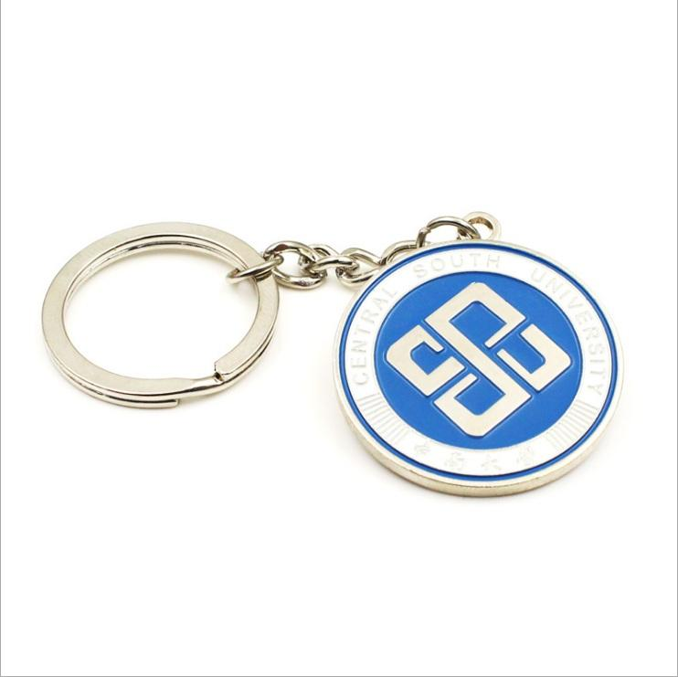 Custom Metal Shopping Cart Coin Holder Keyring / Shopping Trolley Key Coin
