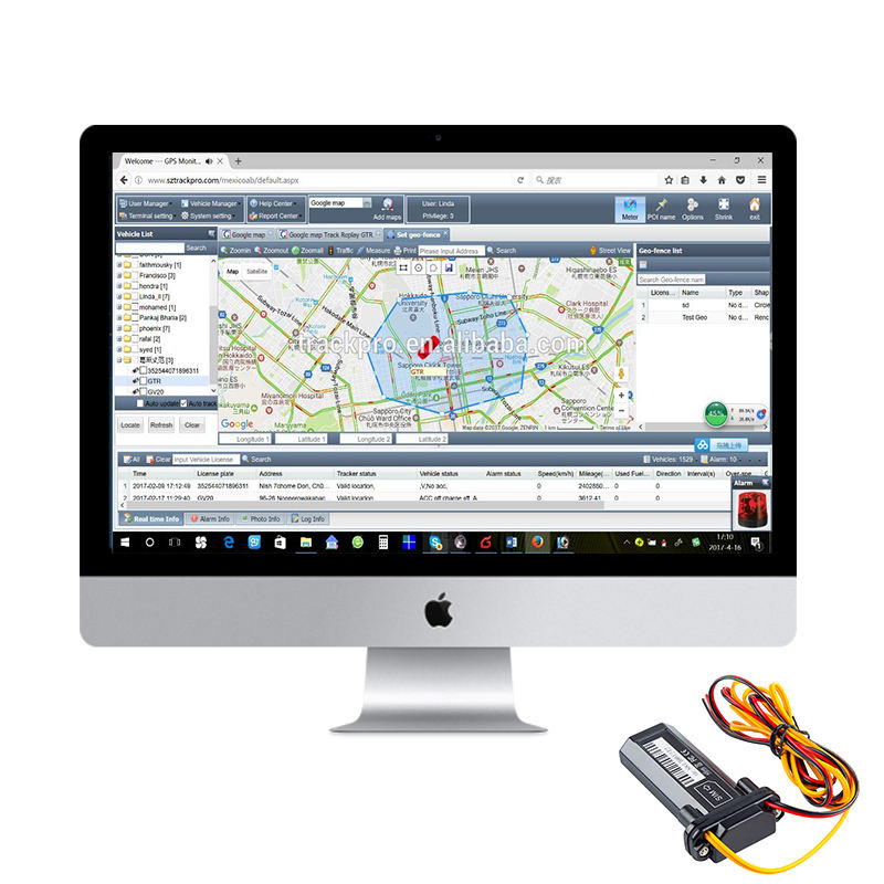 Gps Server Platform Software Sim-kaart Gps Tracking Apparaat Trackr Bravo