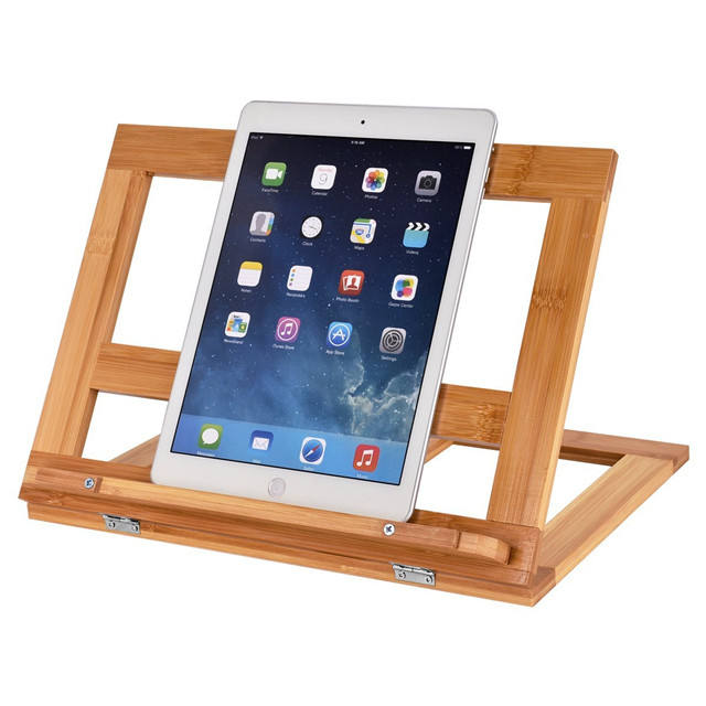Hot-selling Adjustable Factory Bamboo Tablet Pc Display Stand