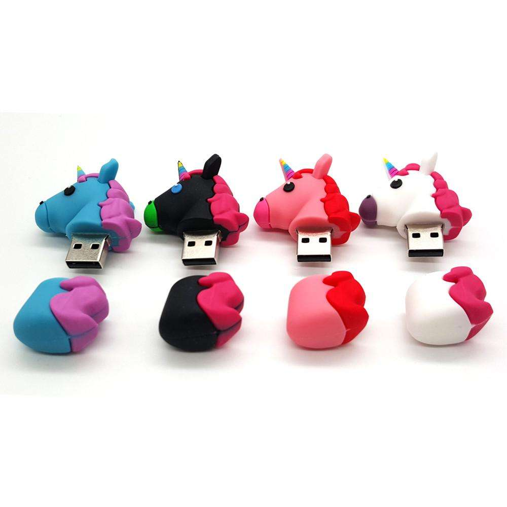 Custom logo pvc cartoon 8 gig unicorn princess corporate Gift Disk usb stick memory flash drive usb flash drives