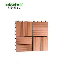 Quick Installation Interlock DIY WPC Decking Tile 30x30 cm for Balcony