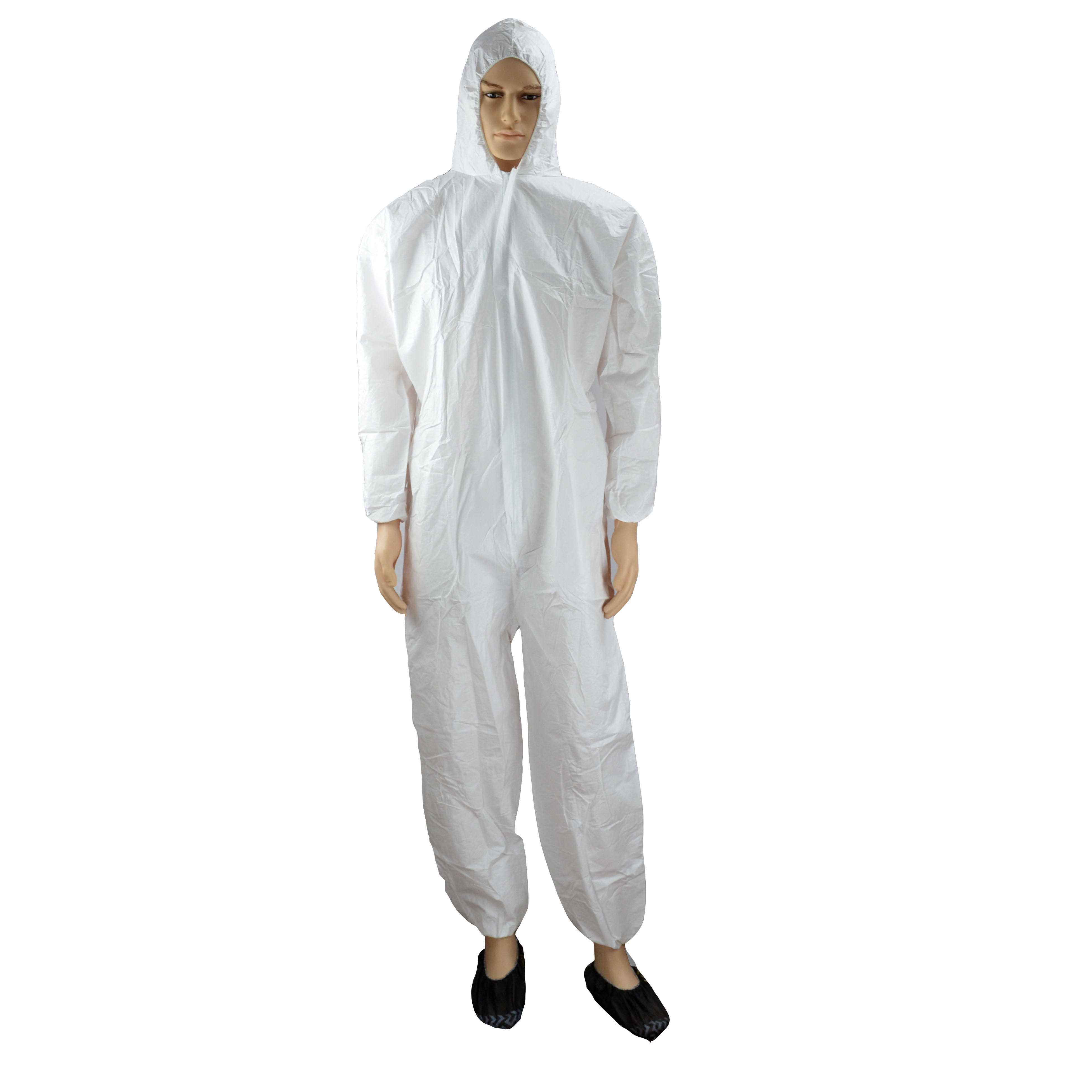 Disposable work wear protective coverall for chemical