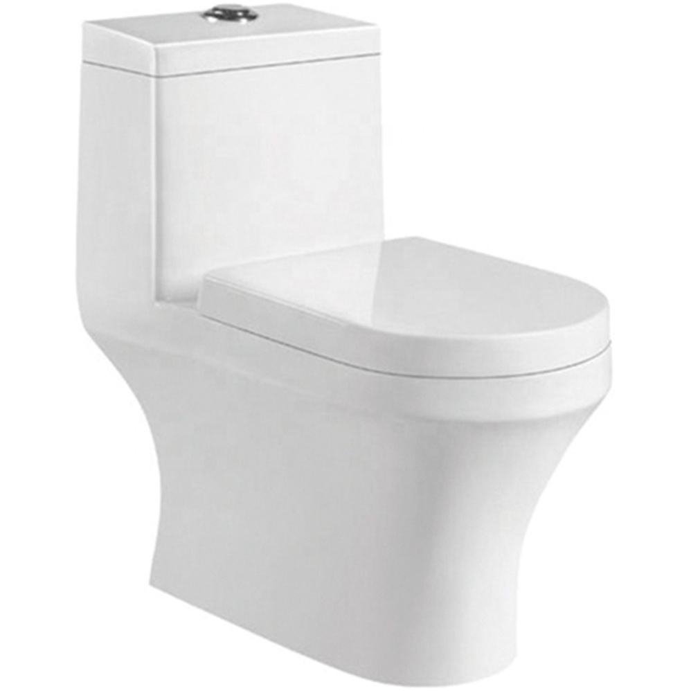Foshan Bathroom Closestool Type Of Floor Mounter Siphon Jet Water Closet With Low Price