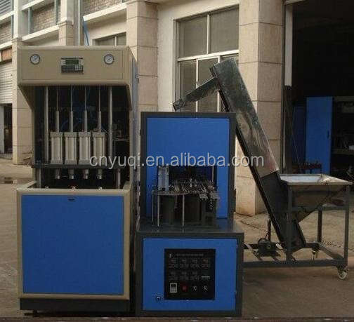 Semi Automatic Pet Blow Molding Machine,4 cavity auto feed the preform,auto dropping the bottle