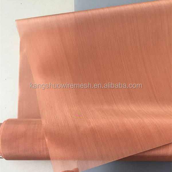 RF absorber red copper woven mesh fabric/pure copper wire mesh for fuel cell