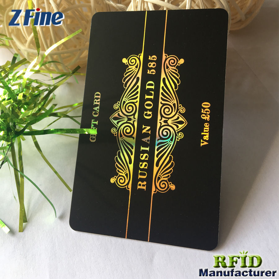 Cheapest Magnetic Gold Foil Business Card With Serial number