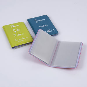 Personalized plastic PVC business card holder