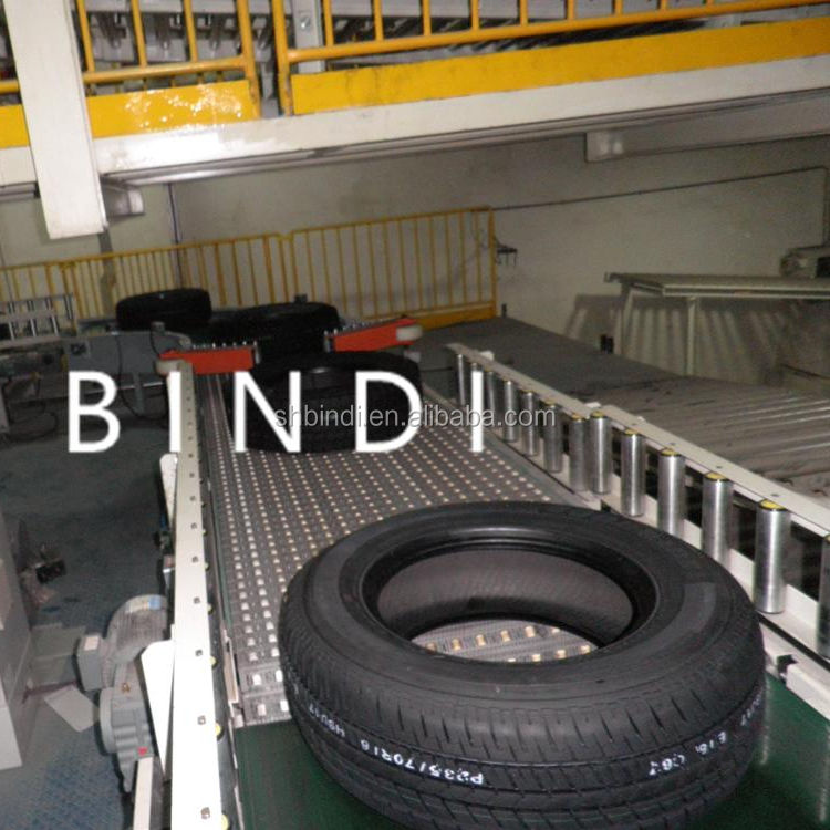 vehicle tires handling conveyor systems