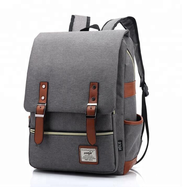 Wholesale top quality Canvas school bags trendy backpack outdoor adventure laptop backpack