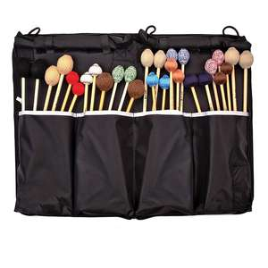Black Foldable Hanging Storage Mallet Drumstick Bag