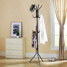 Metal Coat Rack 12 Hooks Display Hall Tree for Clothes Hats and Bags