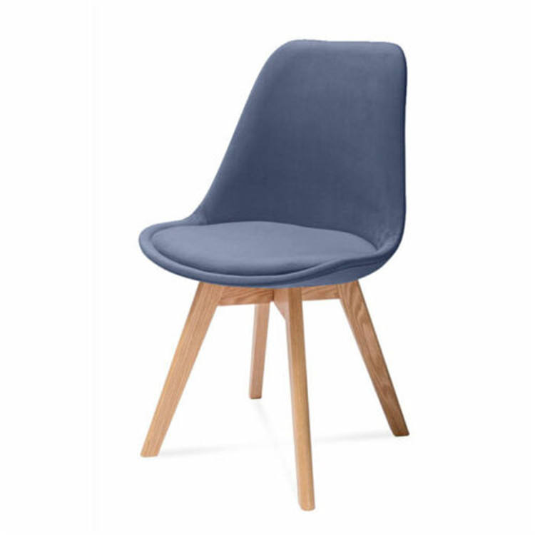 High back PVC PU living room chair in modern style dining chairs