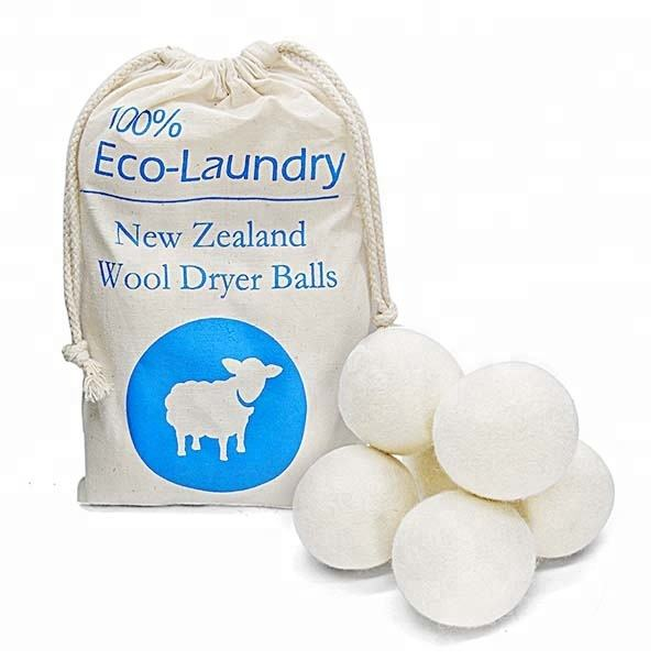 100% Wool cotton laundry dryer balls for dryer set