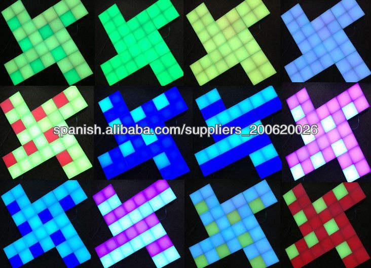 color cambiable ecualizador de luz del panel