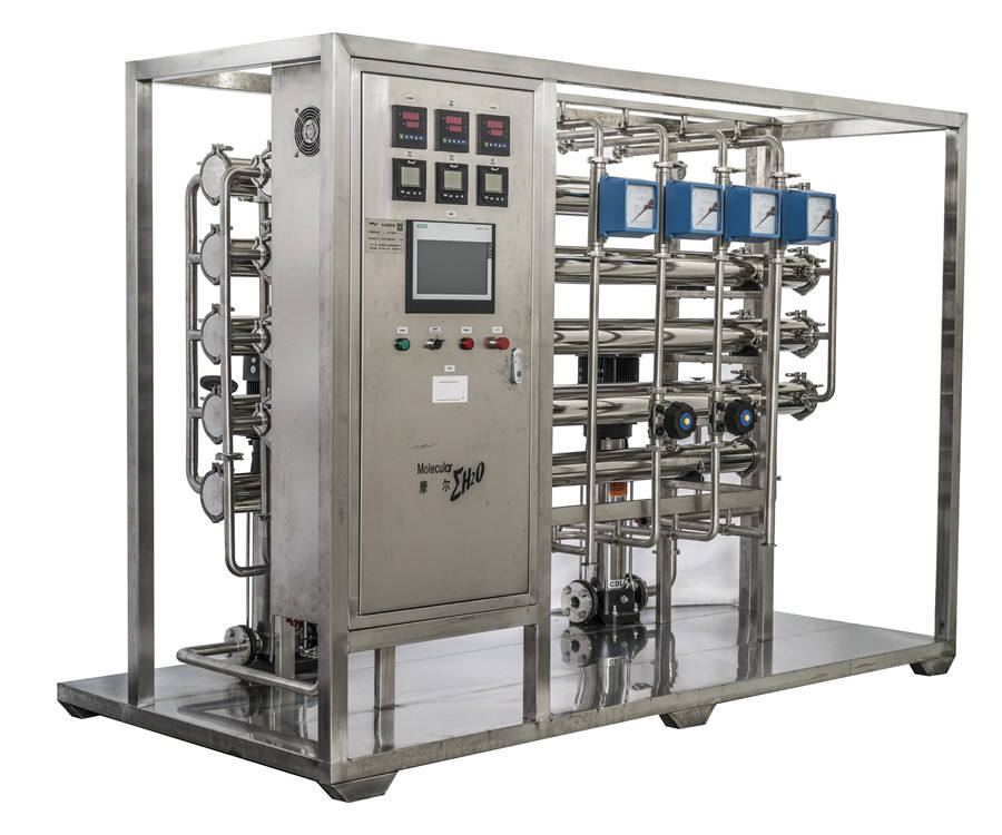 GMP Active Carbon Heat Disinfection RO Pure Water Plant for Pharmacy