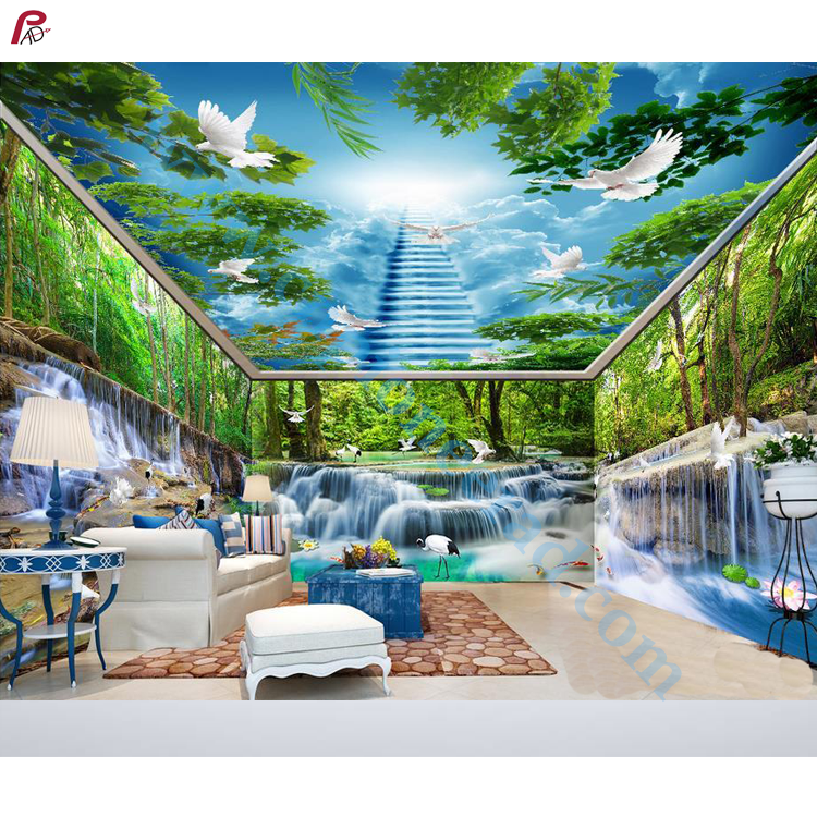 Papel tapiz/revestimiento de pared china papel tapiz 3d murales barato mural de pared nuevo diseño 3d pared