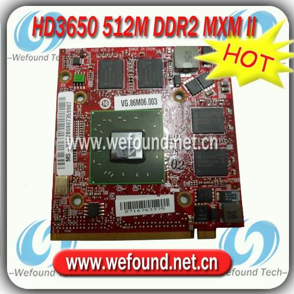 HD3650/HD 3650 512M MXM II for ACER VGA Card Graphics Card Video Card ATI Mobility Radeon VG.86M06.003 Paypal Accepted