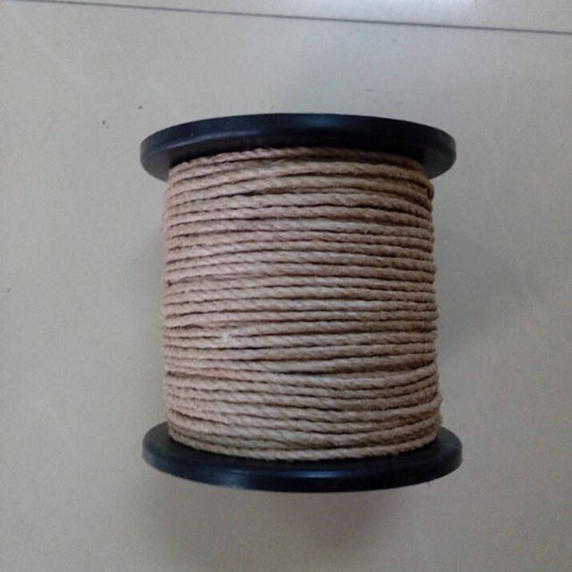 4mm polished and waxed jute twine paper bag rope handle