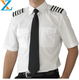 Short sleeve pilot 100% cotton fabric shirts with covered button with pillot shirts with short sleeve