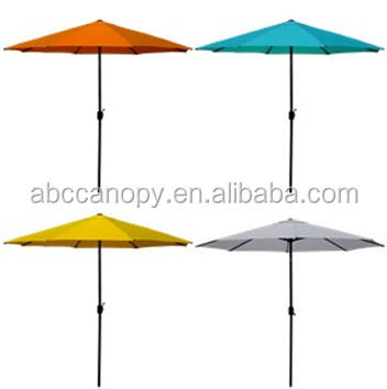 Outdoor Beach Umbrella Factory UV Resistant Folding Chinese Garden Parasol Wooden or Stainless Sun Umbrella for party Wedding