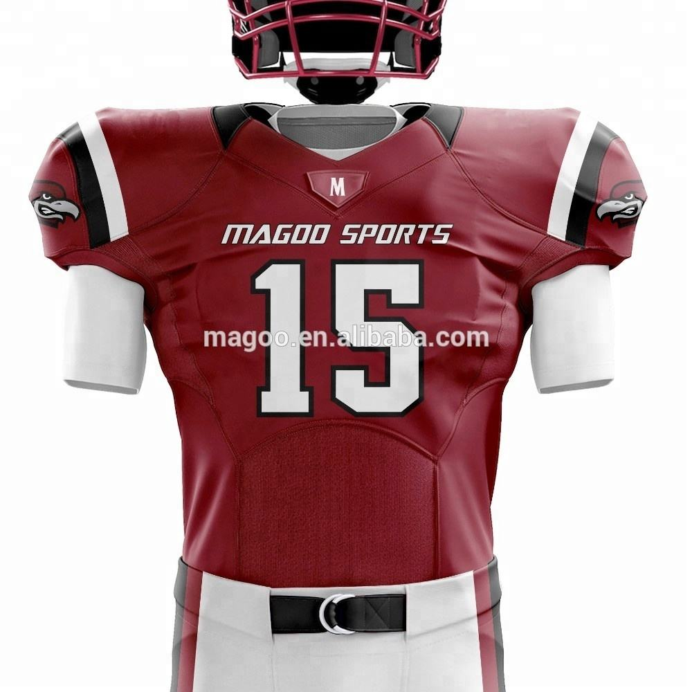 Wholesale Custom American football practice uniforms(sets) Sublimation football jersey and pants