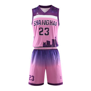 Simple Design Basketball Jersey Color Pink Mens Womens Basketball Uniform Design