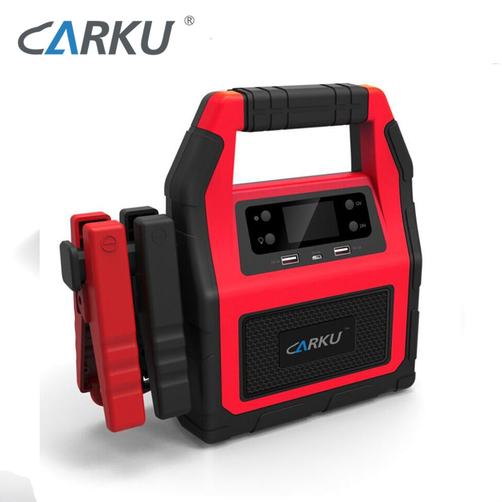 CARKU emergency 12V 24V jump starter 45000mAh 1500A for diesel auto lorry, big truck, tractors