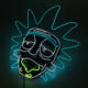 Hot Sales Fashion EL Wire Glowing Rick Mask LED Party Mask Halloween Costumes Mask for Christmas Horror Theme Party Decor
