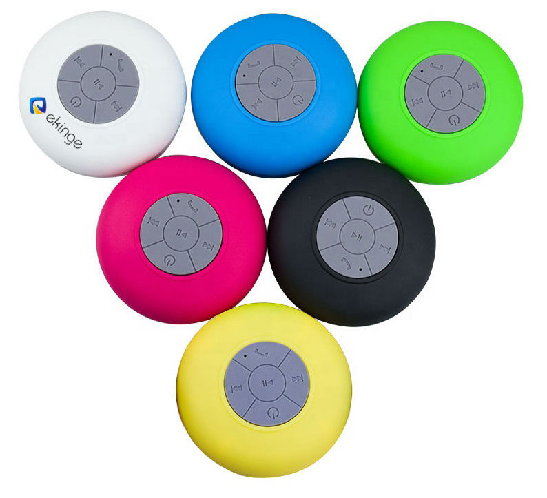 Wholesale price IPX4 waterproof sucker shower speaker portable mobile phone wireless mini speaker (BTS06)