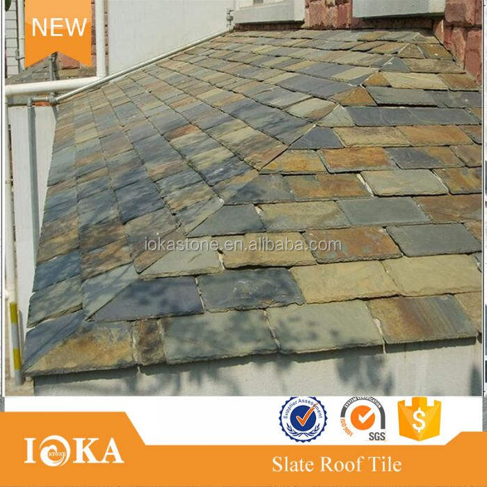 rustic color slate roof tile Rusty slate rectangle roofing