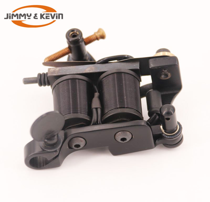 Beste Aanpassen Ijzeren Frame 10 Wraps Handgemaakte Messing 35mm Tattoo Grip Tattoo Machine