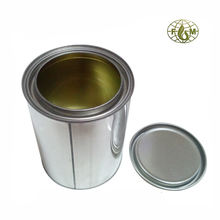 dia. 84mm  tinplate round mini paint tin cans with internal epoxy lacquer