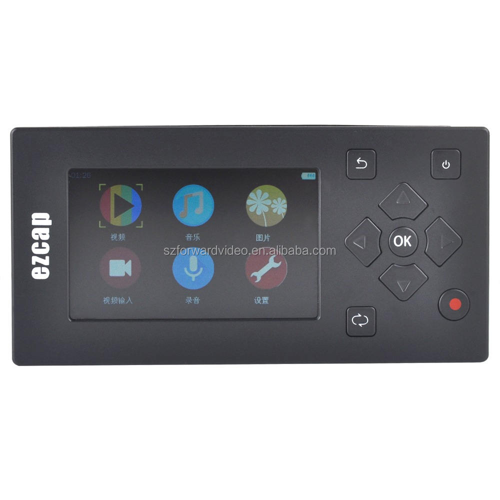 AV player Video to Digital Converter Standalone Media AV Recorder and Player with Mic portable video player ezcap271