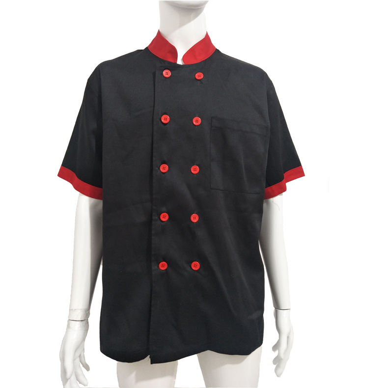 Double Breasted French Hotel Pizza Summer Chef Uniform Jacket