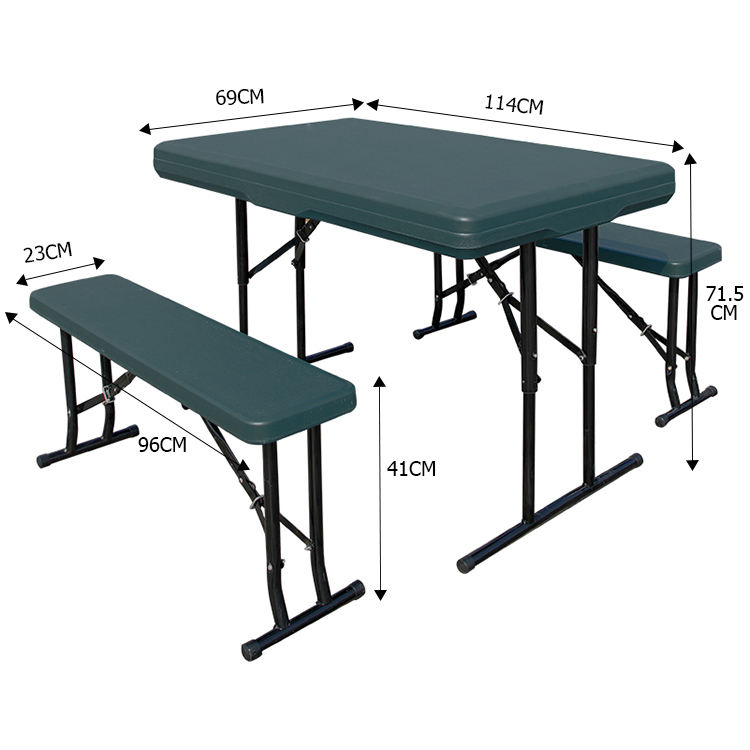 100% Test Outdoor Portable Folding Modern Style Coating Legs Furniture PP Picnic Table And Chair