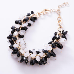 Summer Hot Selling Fashionable Necklace Black Jewelry Necklace Chunky Flower Necklace