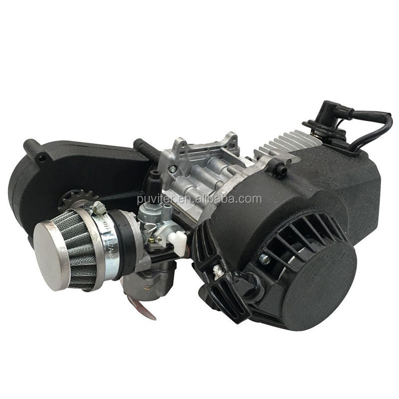 2 Stroke Engine Motor 와 Gear Box 대 한 47cc 49cc 50cc Mini Pocket Bike Gas G-Scooter ATV Quad 자전거 Dirt Pit 자전거를