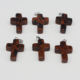 fashion jewelry nature stone carved stone cross pendant charm for necklace jewelry making