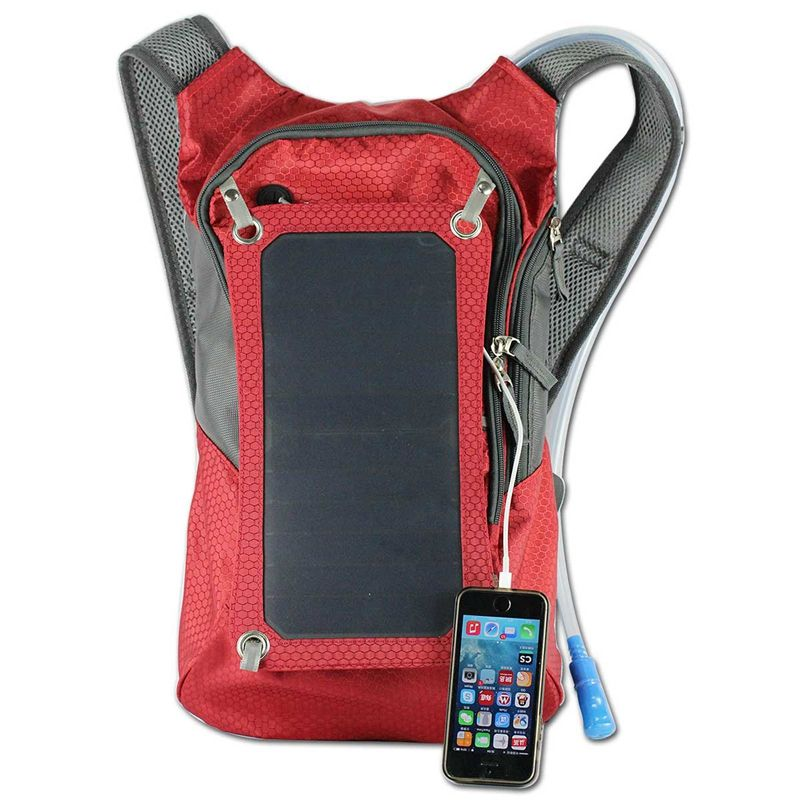 Unisex fashion smart school charger power bank hydration solar panel solar backpacks
