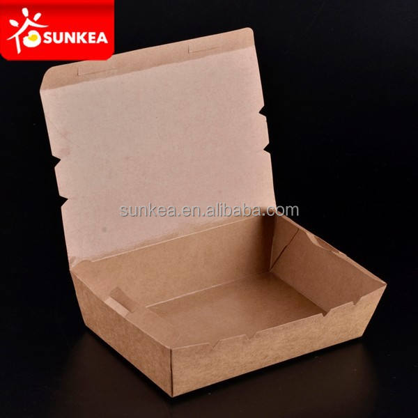 Disposable food packing lunch boxes deli boxes food grade cardboard box supplier